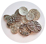 2018.03.15: Sterling Silver Buttons 12:30 to 4:30 pm (in my studio)